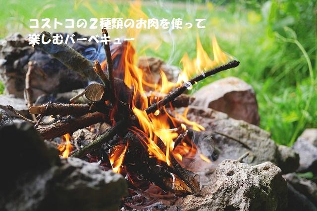 バーベキューの炎